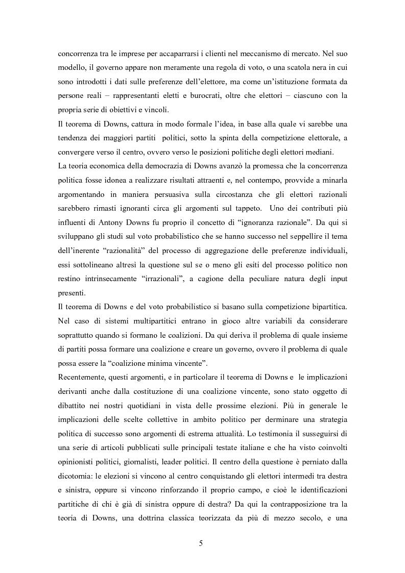 Anteprima della tesi: La teoria delle scelte collettive, Pagina 3