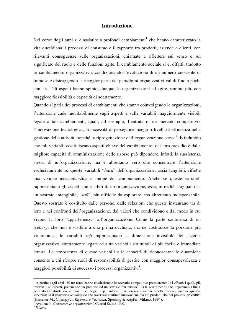 Anteprima della tesi: Comunicazione, cultura e identità di un'organizzazione. Il caso Tim., Pagina 1