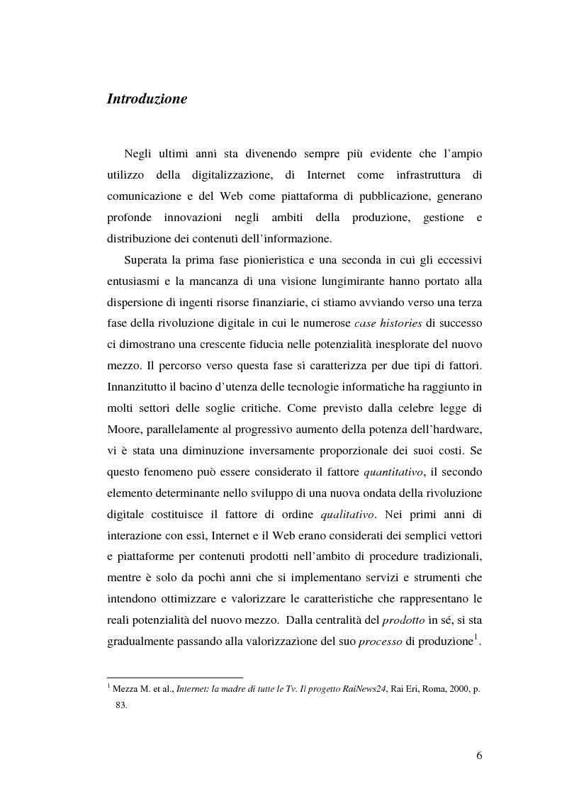 Anteprima della tesi: Modelli e geometrie dei contenuti della rete, Pagina 1