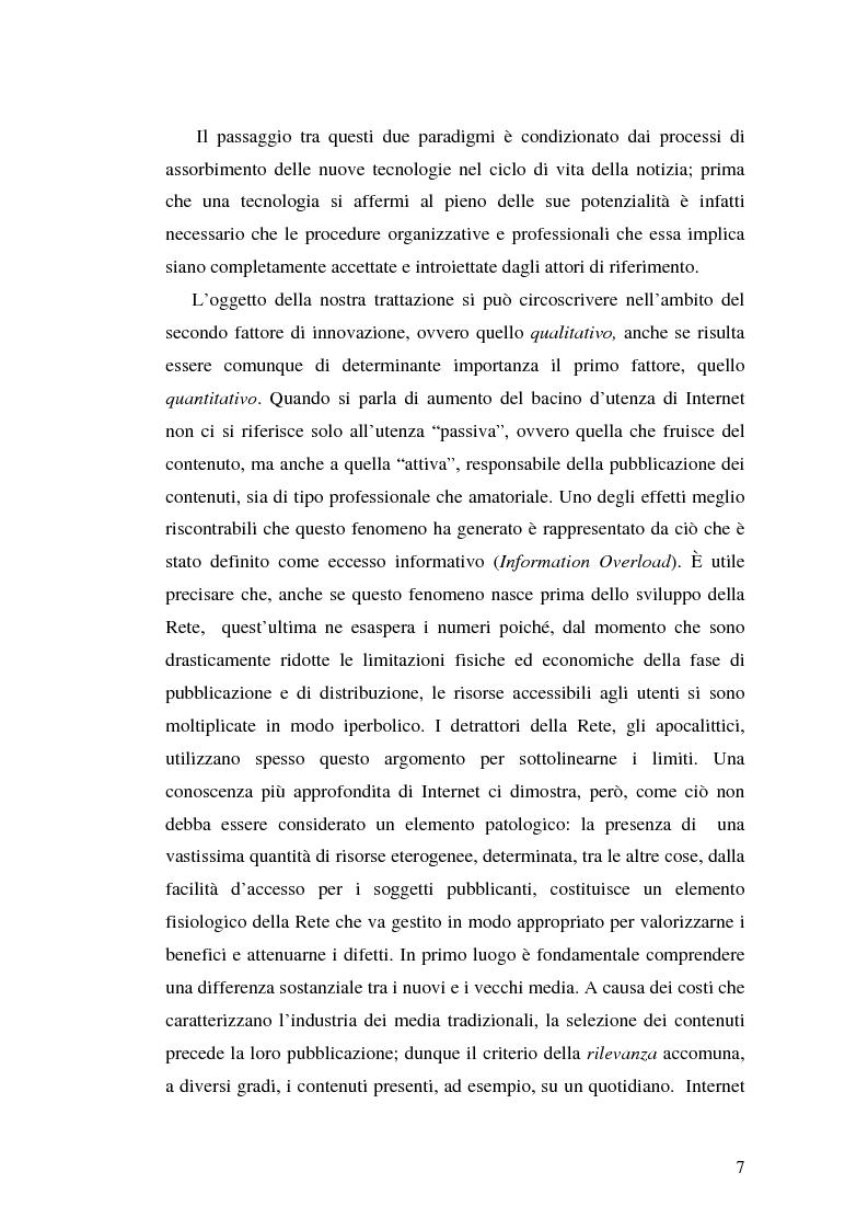 Anteprima della tesi: Modelli e geometrie dei contenuti della rete, Pagina 2