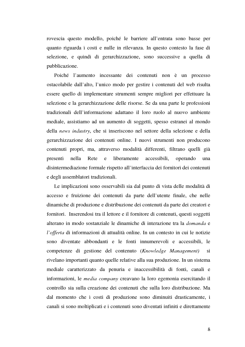 Anteprima della tesi: Modelli e geometrie dei contenuti della rete, Pagina 3