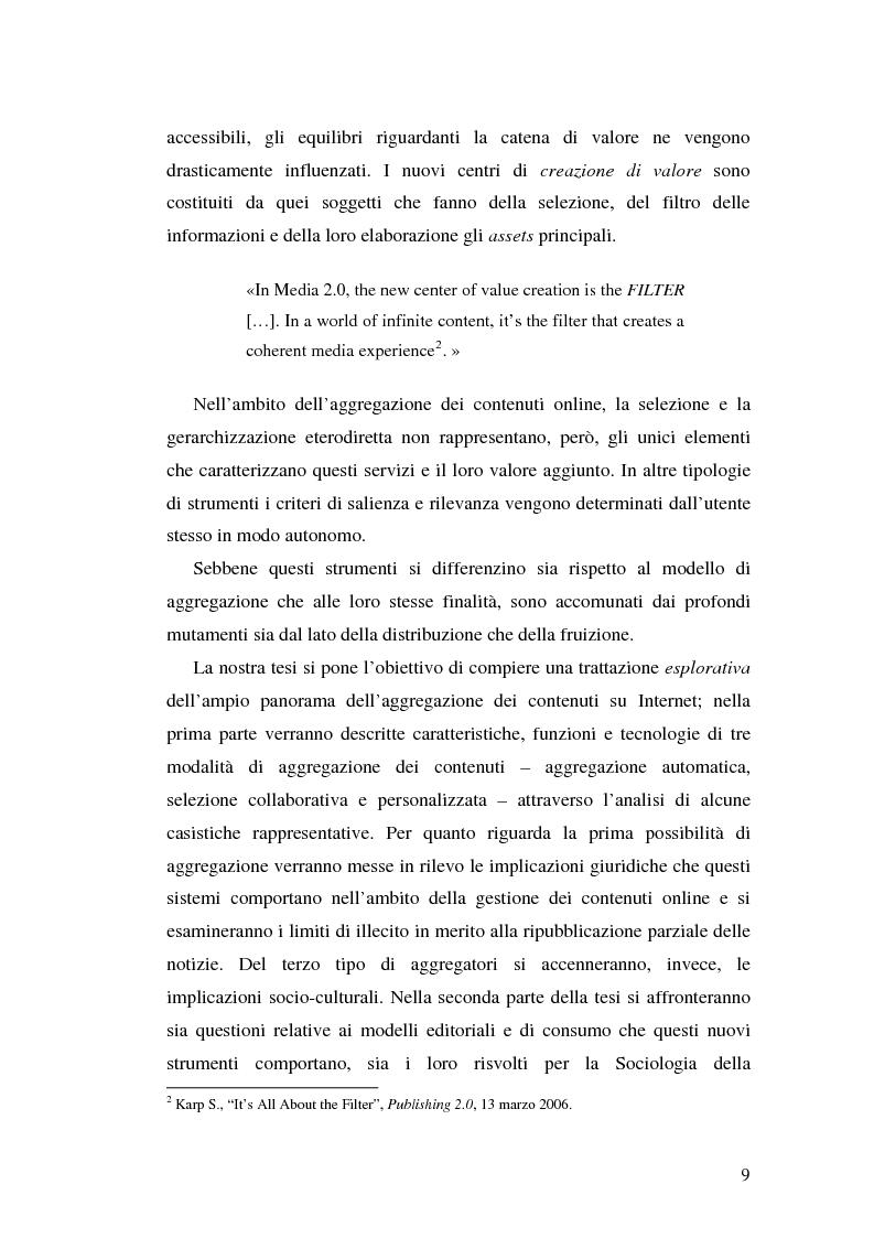 Anteprima della tesi: Modelli e geometrie dei contenuti della rete, Pagina 4