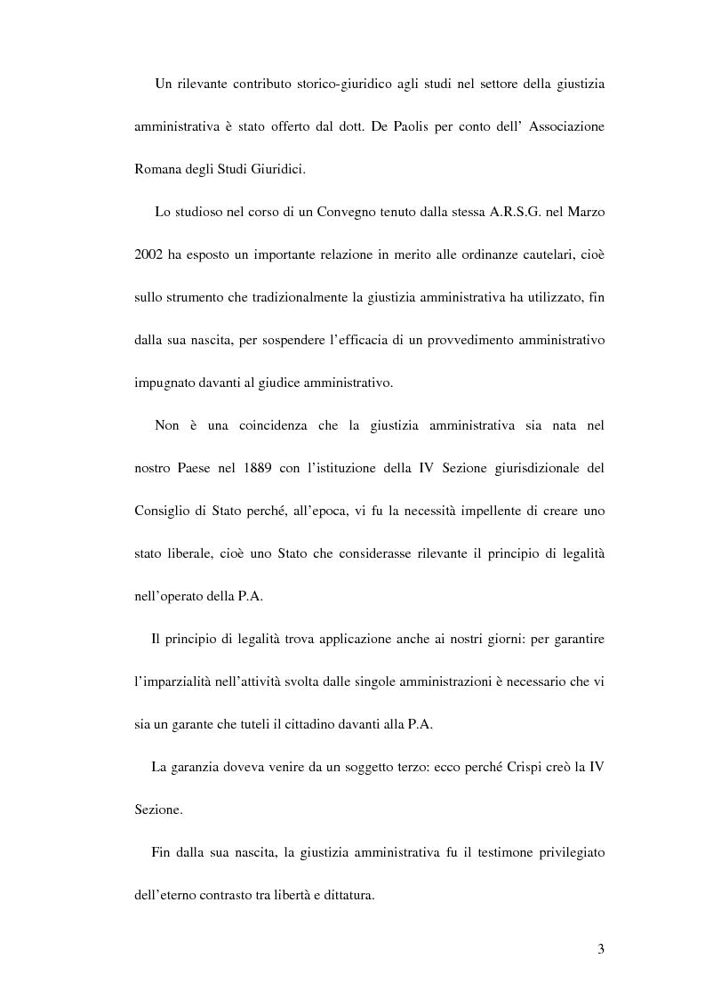 Anteprima della tesi: Le ordinanze cautelari atipiche nel nuovo processo amministrativo, Pagina 2