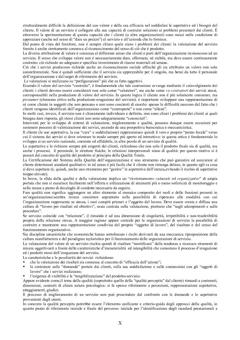 Anteprima della tesi: Il peso dell'intangibile. La gestione della qualità e la soddisfazione del cliente nelle aziende di servizi, Pagina 10