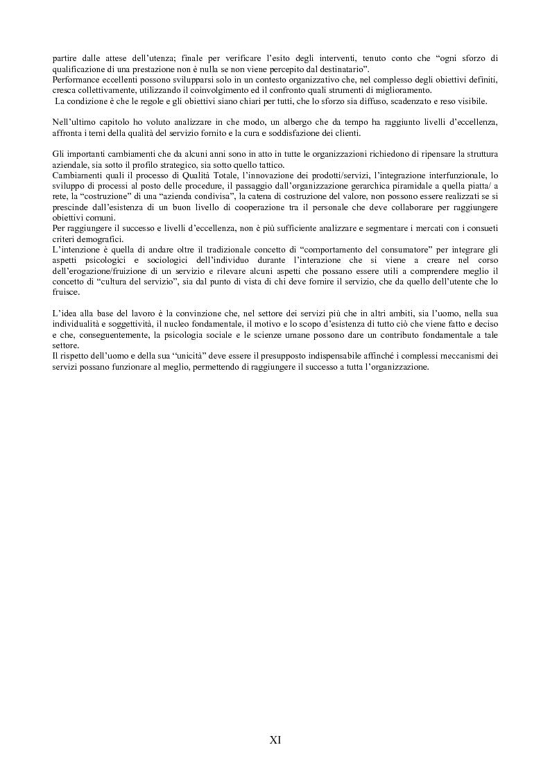 Anteprima della tesi: Il peso dell'intangibile. La gestione della qualità e la soddisfazione del cliente nelle aziende di servizi, Pagina 11