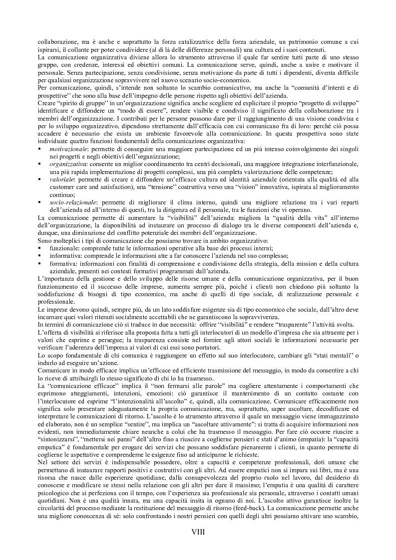 Anteprima della tesi: Il peso dell'intangibile. La gestione della qualità e la soddisfazione del cliente nelle aziende di servizi, Pagina 8