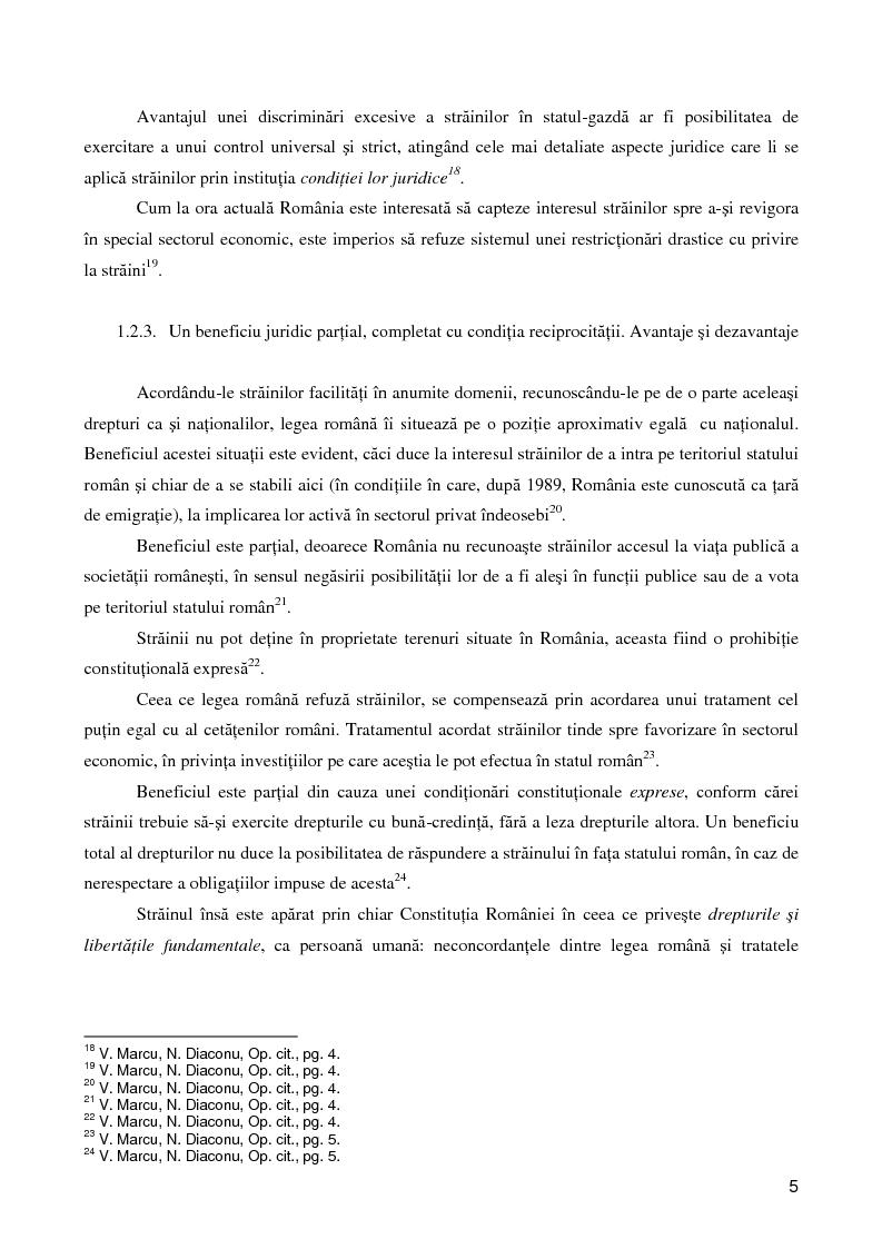 Anteprima della tesi: Regimul juridic al străinilor în dreptul internaţional si cel comunitar, Pagina 4