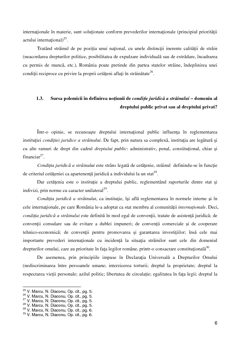Anteprima della tesi: Regimul juridic al străinilor în dreptul internaţional si cel comunitar, Pagina 5