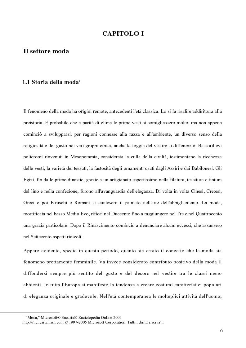 Anteprima della tesi: Le politiche di marketing nel settore moda, Pagina 3