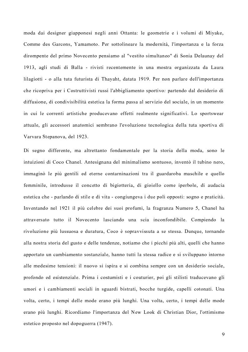 Anteprima della tesi: Le politiche di marketing nel settore moda, Pagina 6