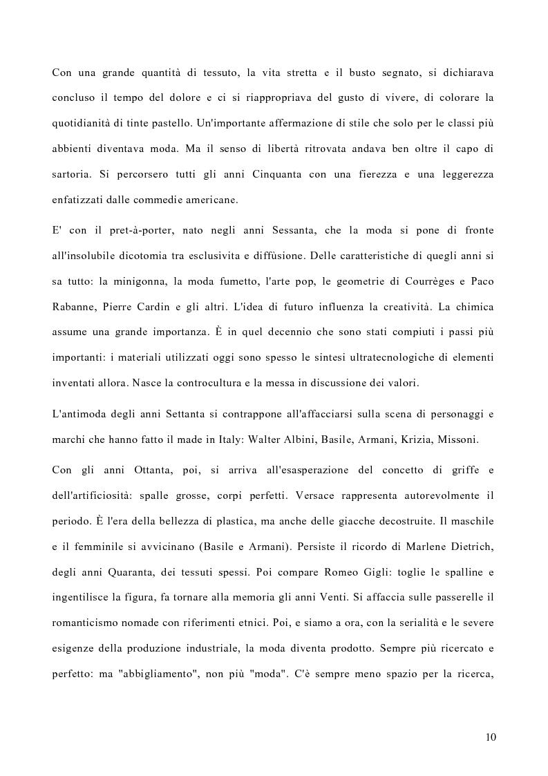 Anteprima della tesi: Le politiche di marketing nel settore moda, Pagina 7