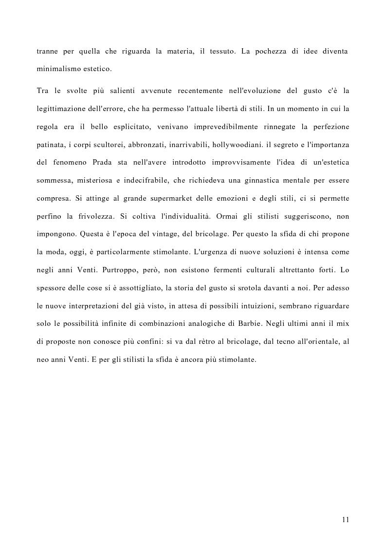 Anteprima della tesi: Le politiche di marketing nel settore moda, Pagina 8