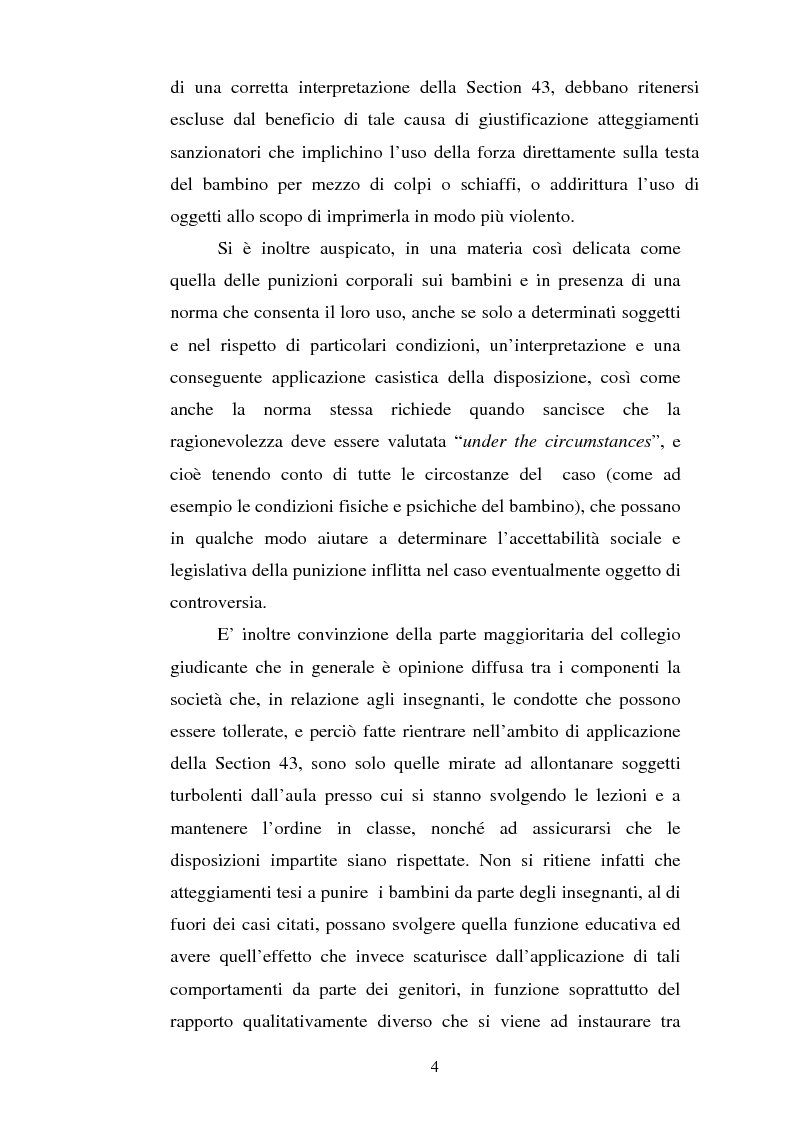 Anteprima della tesi: Lo ius corrigendi in una recente sentenza della Corte Suprema Canadese, Pagina 4