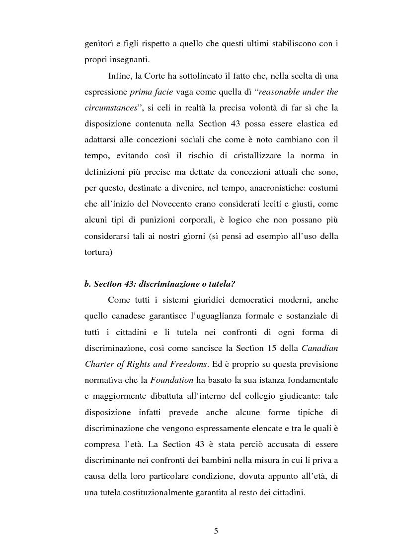 Anteprima della tesi: Lo ius corrigendi in una recente sentenza della Corte Suprema Canadese, Pagina 5