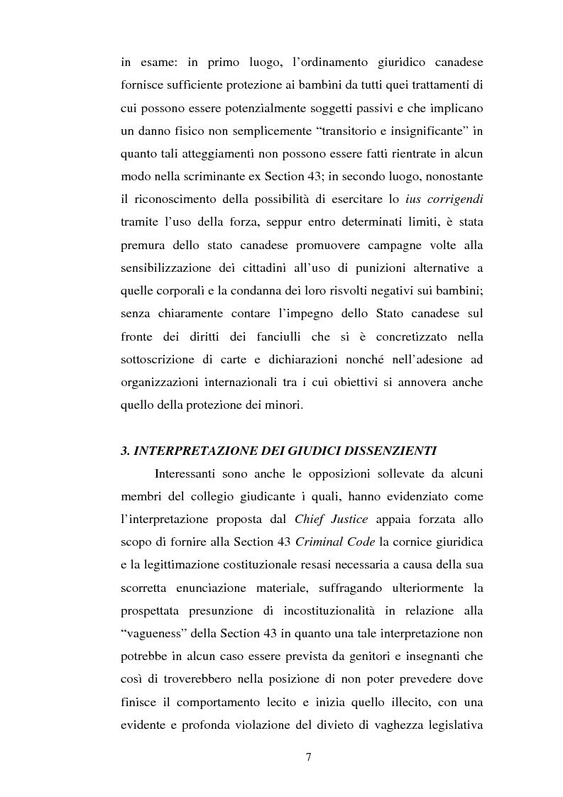 Anteprima della tesi: Lo ius corrigendi in una recente sentenza della Corte Suprema Canadese, Pagina 7