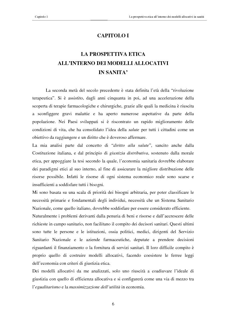 Anteprima della tesi: Il costo sociale delle patologie: il caso dell'obesità, Pagina 6
