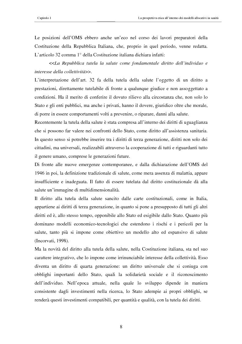 Anteprima della tesi: Il costo sociale delle patologie: il caso dell'obesità, Pagina 8
