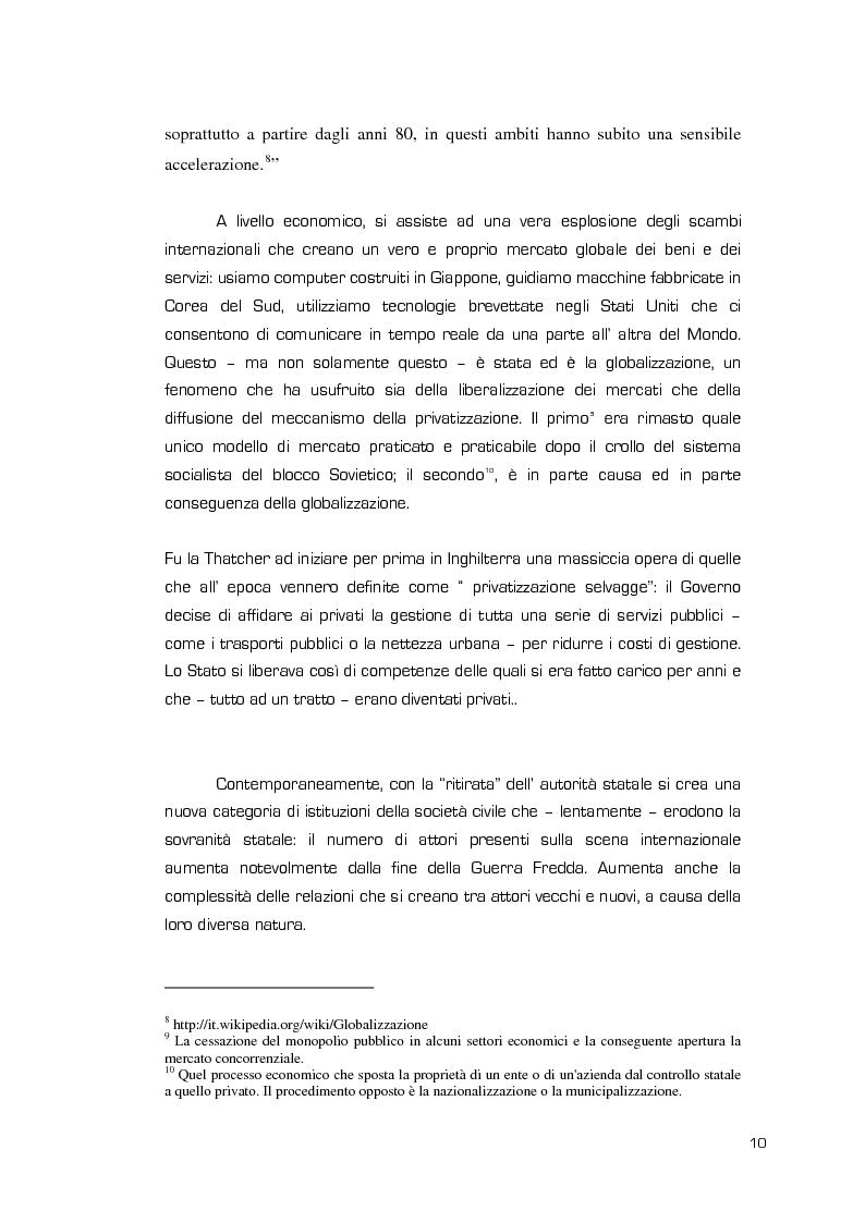 Anteprima della tesi: La Valenza delle Compagnie Militari Private nelle Aree di Crisi e di Conflittualità, Pagina 10