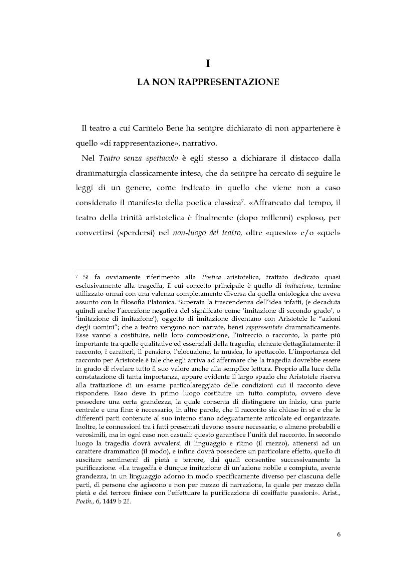 Anteprima della tesi: Il teatro della non-rappresentazione di Carmelo Bene. Contatti e divergenze con Antonin Artaud, Pagina 4