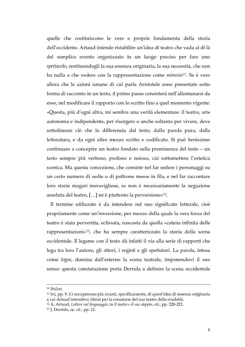 Anteprima della tesi: Il teatro della non-rappresentazione di Carmelo Bene. Contatti e divergenze con Antonin Artaud, Pagina 6
