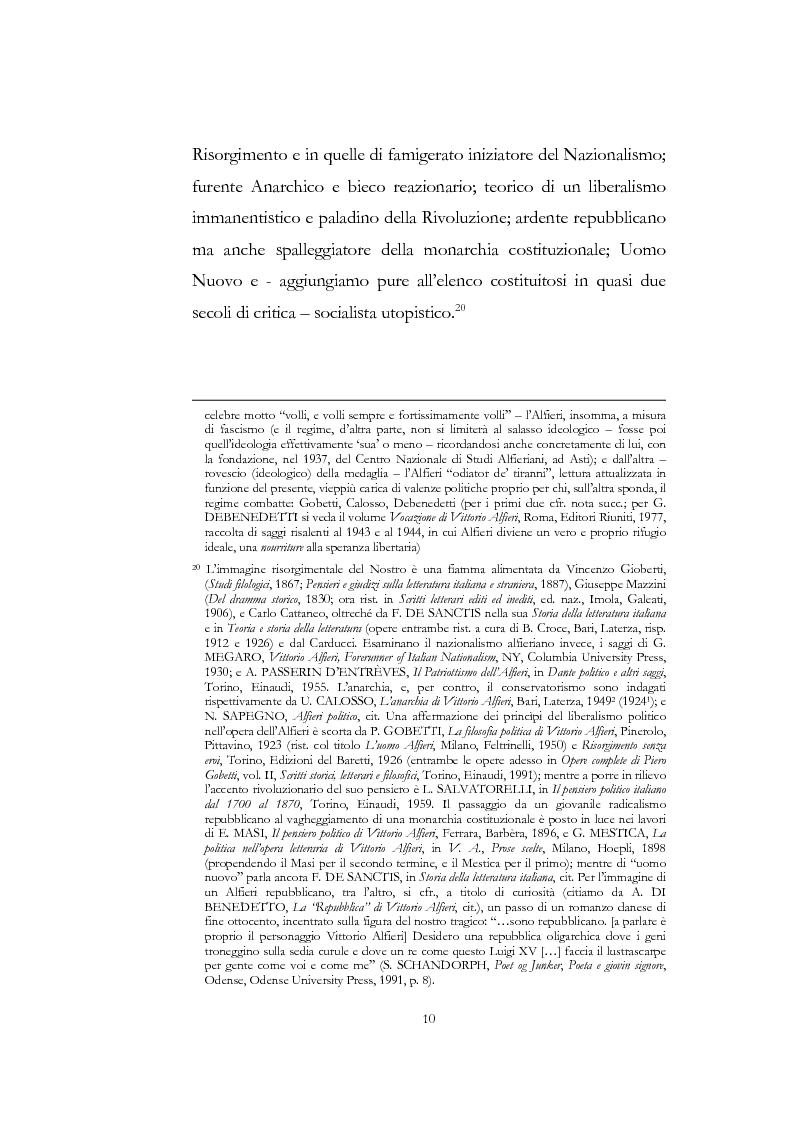 """Anteprima della tesi: """"Nel fango i vili intanto al suol conficco"""" - Vittorio Alfieri fra politica e letteratura, Pagina 10"""