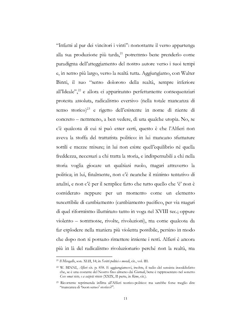 """Anteprima della tesi: """"Nel fango i vili intanto al suol conficco"""" - Vittorio Alfieri fra politica e letteratura, Pagina 11"""