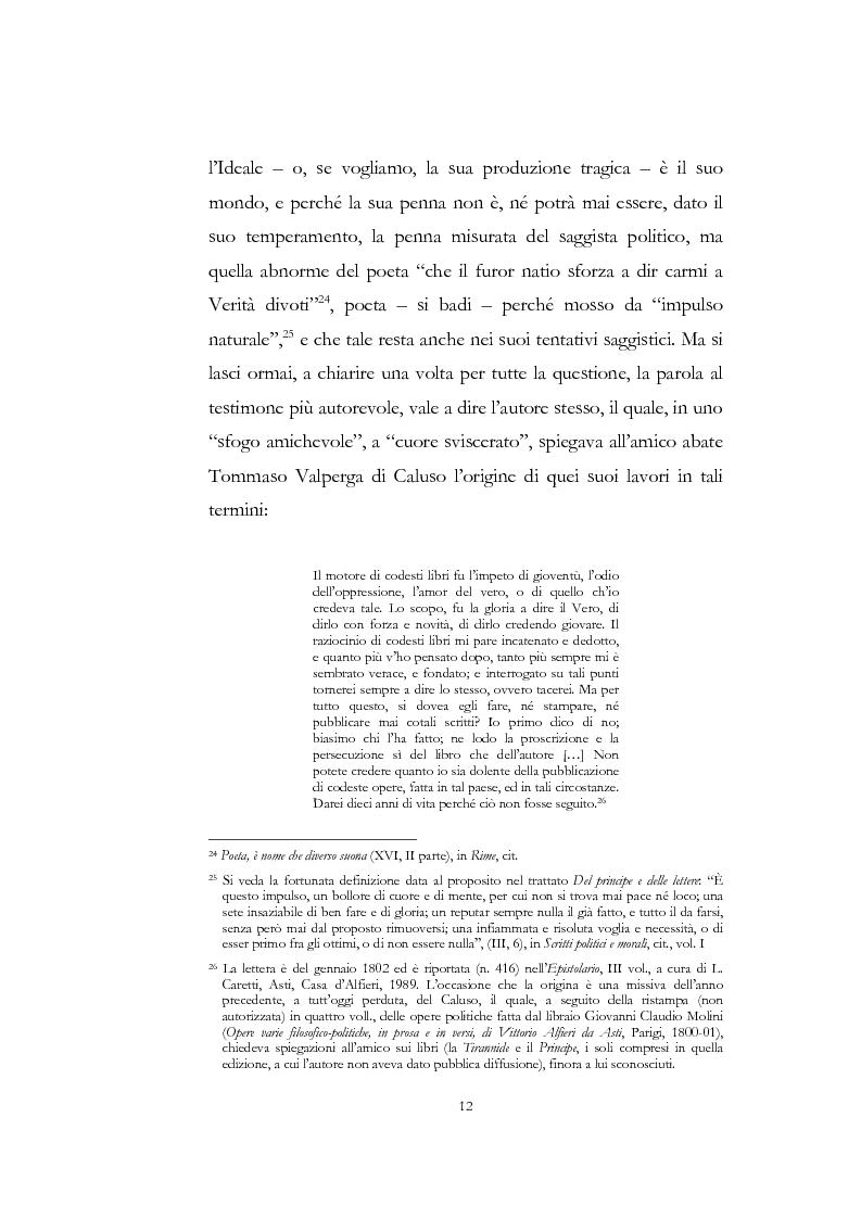 """Anteprima della tesi: """"Nel fango i vili intanto al suol conficco"""" - Vittorio Alfieri fra politica e letteratura, Pagina 12"""