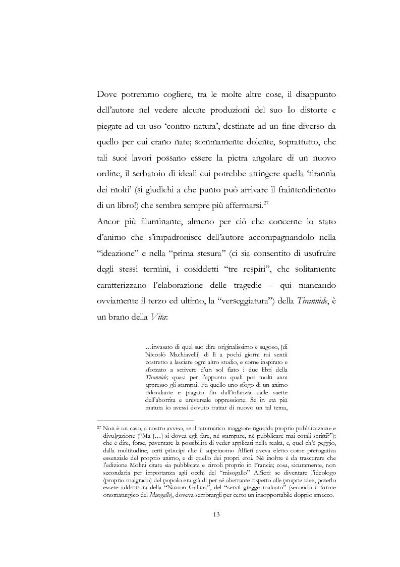 """Anteprima della tesi: """"Nel fango i vili intanto al suol conficco"""" - Vittorio Alfieri fra politica e letteratura, Pagina 13"""