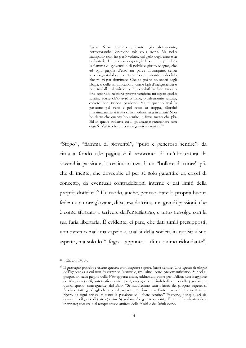 """Anteprima della tesi: """"Nel fango i vili intanto al suol conficco"""" - Vittorio Alfieri fra politica e letteratura, Pagina 14"""