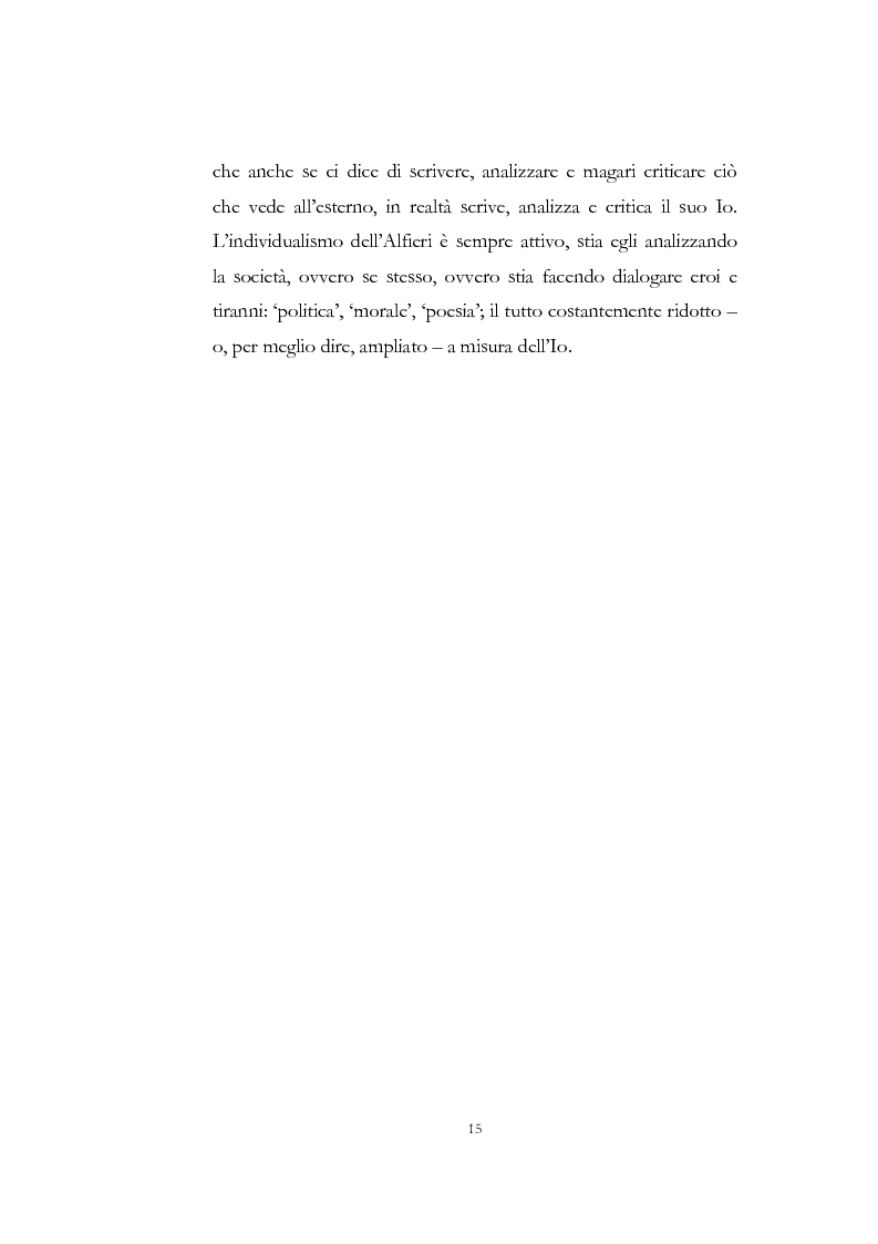 """Anteprima della tesi: """"Nel fango i vili intanto al suol conficco"""" - Vittorio Alfieri fra politica e letteratura, Pagina 15"""