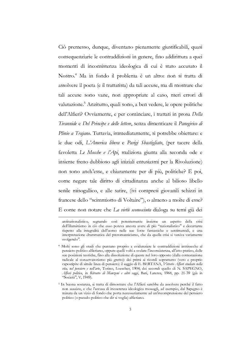 """Anteprima della tesi: """"Nel fango i vili intanto al suol conficco"""" - Vittorio Alfieri fra politica e letteratura, Pagina 3"""