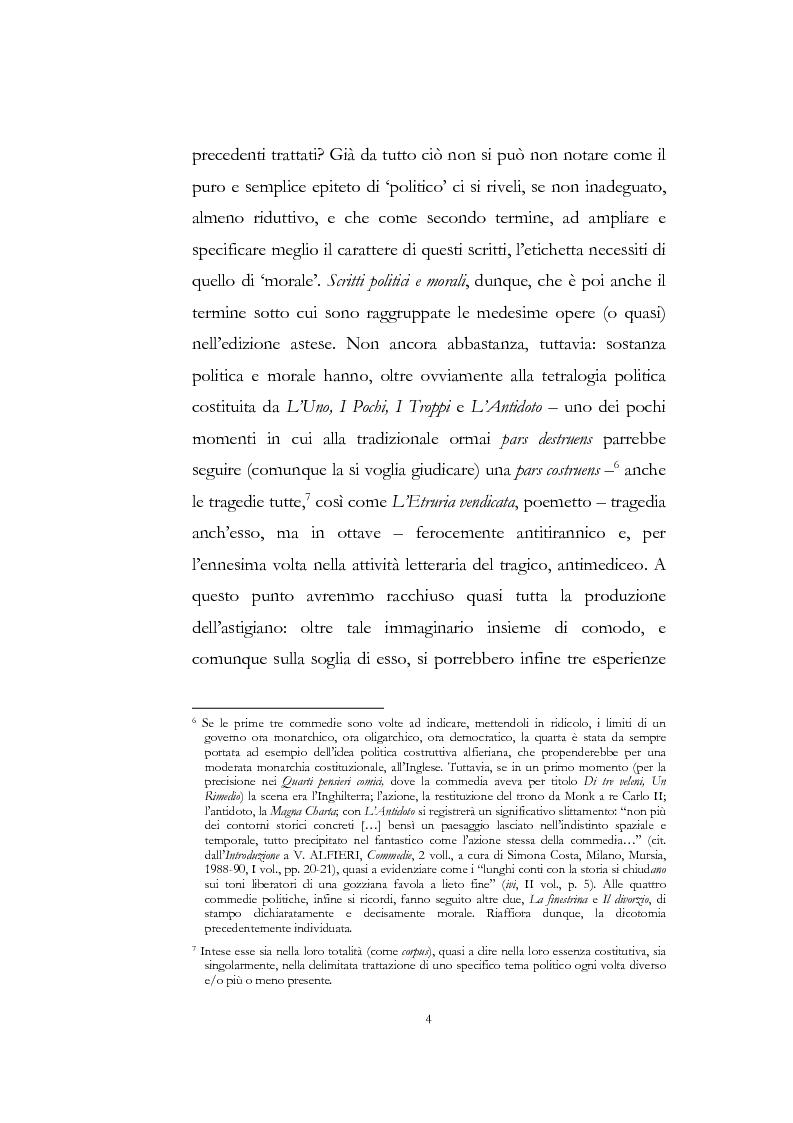 """Anteprima della tesi: """"Nel fango i vili intanto al suol conficco"""" - Vittorio Alfieri fra politica e letteratura, Pagina 4"""