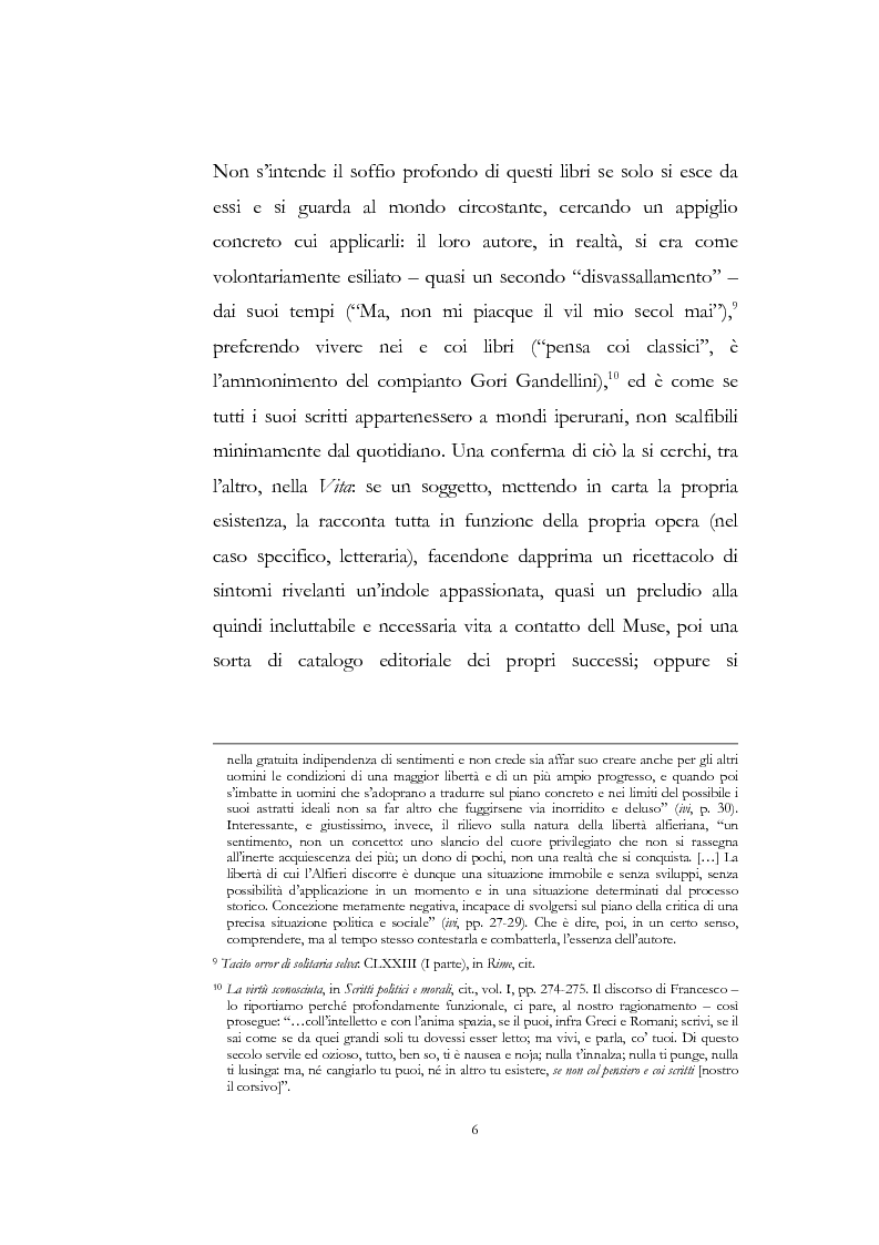 """Anteprima della tesi: """"Nel fango i vili intanto al suol conficco"""" - Vittorio Alfieri fra politica e letteratura, Pagina 6"""