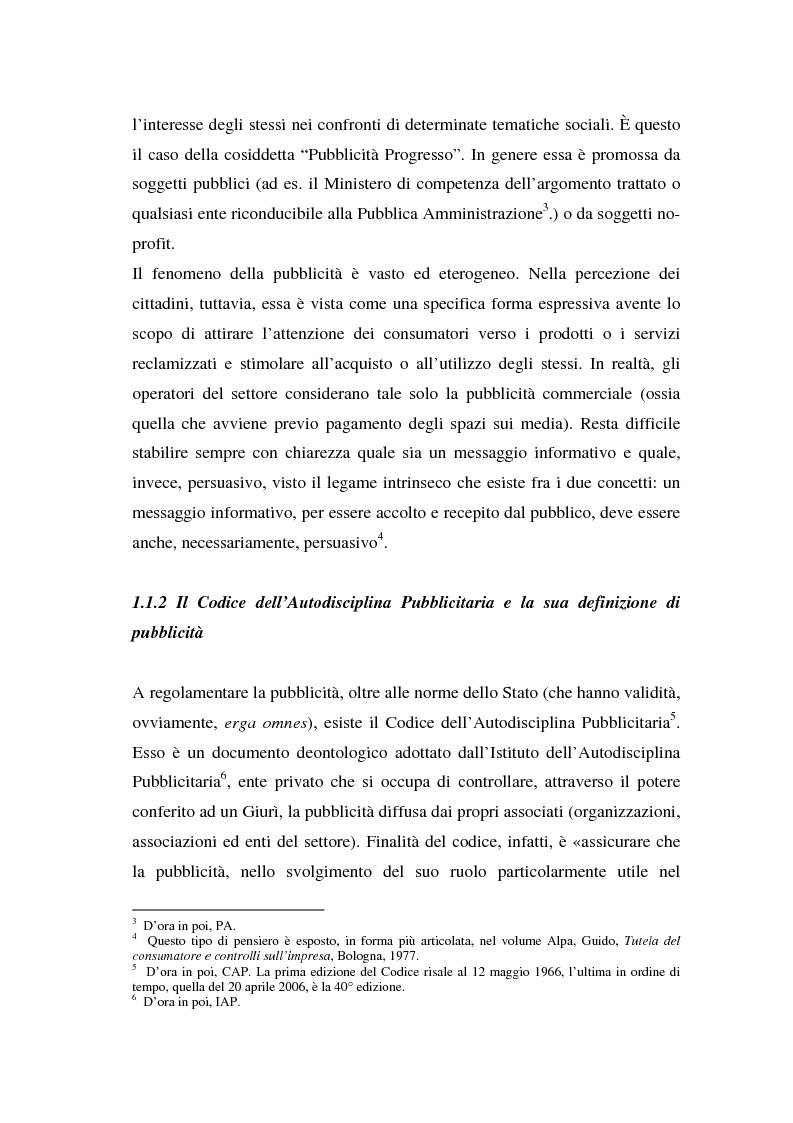 Anteprima della tesi: La repressione della pubblicità occulta, il caso Grazia firmato Armani, Pagina 2