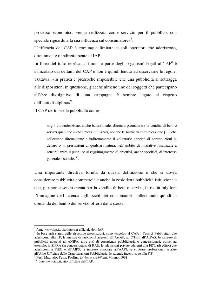 Anteprima della tesi: La repressione della pubblicità occulta, il caso Grazia firmato Armani, Pagina 3