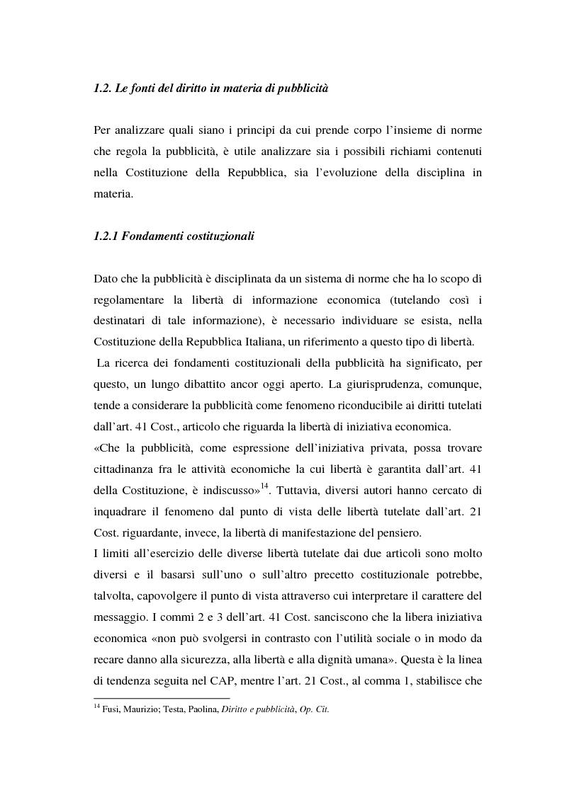 Anteprima della tesi: La repressione della pubblicità occulta, il caso Grazia firmato Armani, Pagina 5