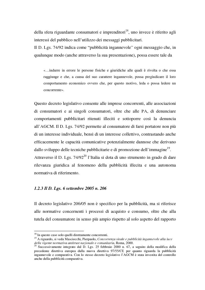 Anteprima della tesi: La repressione della pubblicità occulta, il caso Grazia firmato Armani, Pagina 7