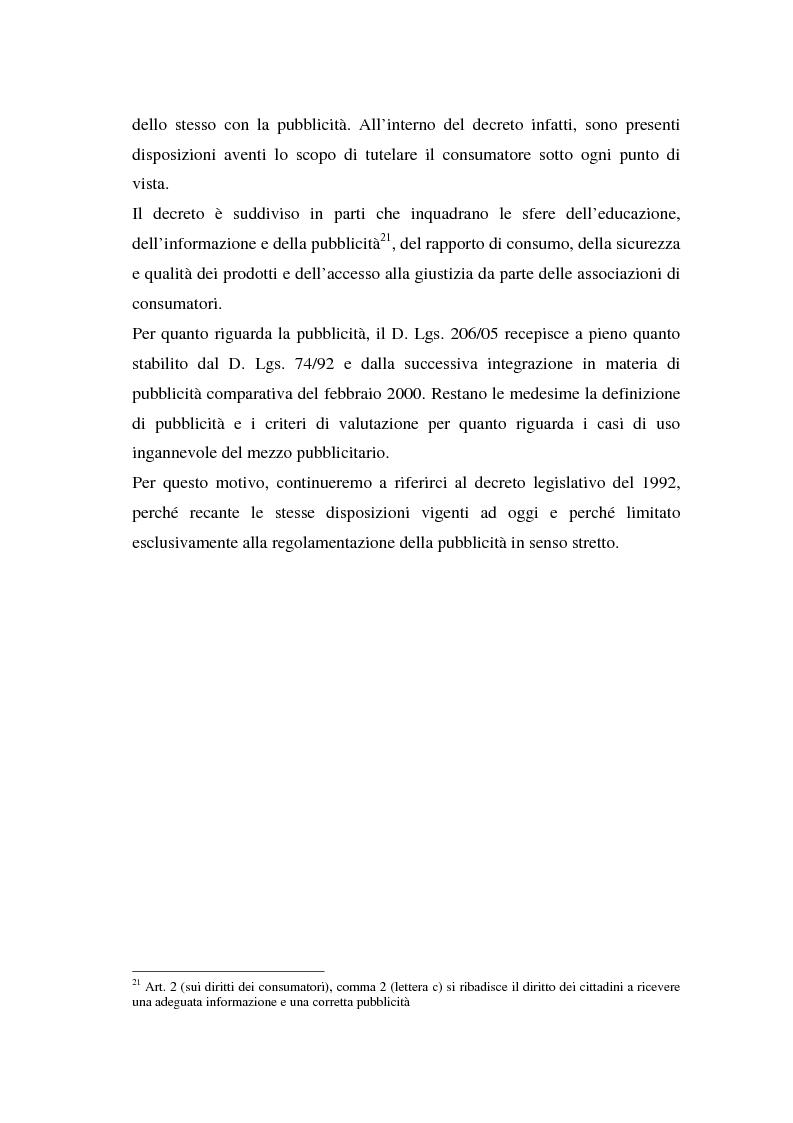 Anteprima della tesi: La repressione della pubblicità occulta, il caso Grazia firmato Armani, Pagina 8