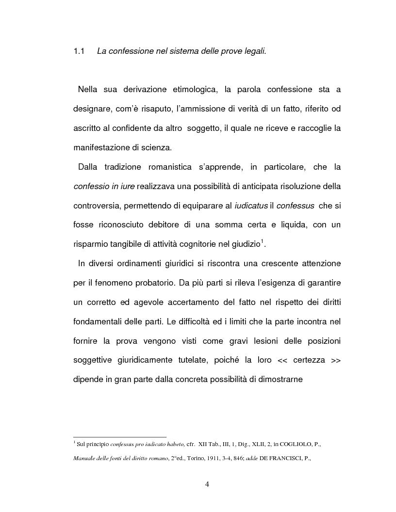 Anteprima della tesi: La confessione nel sistema delle prove legali, Pagina 1