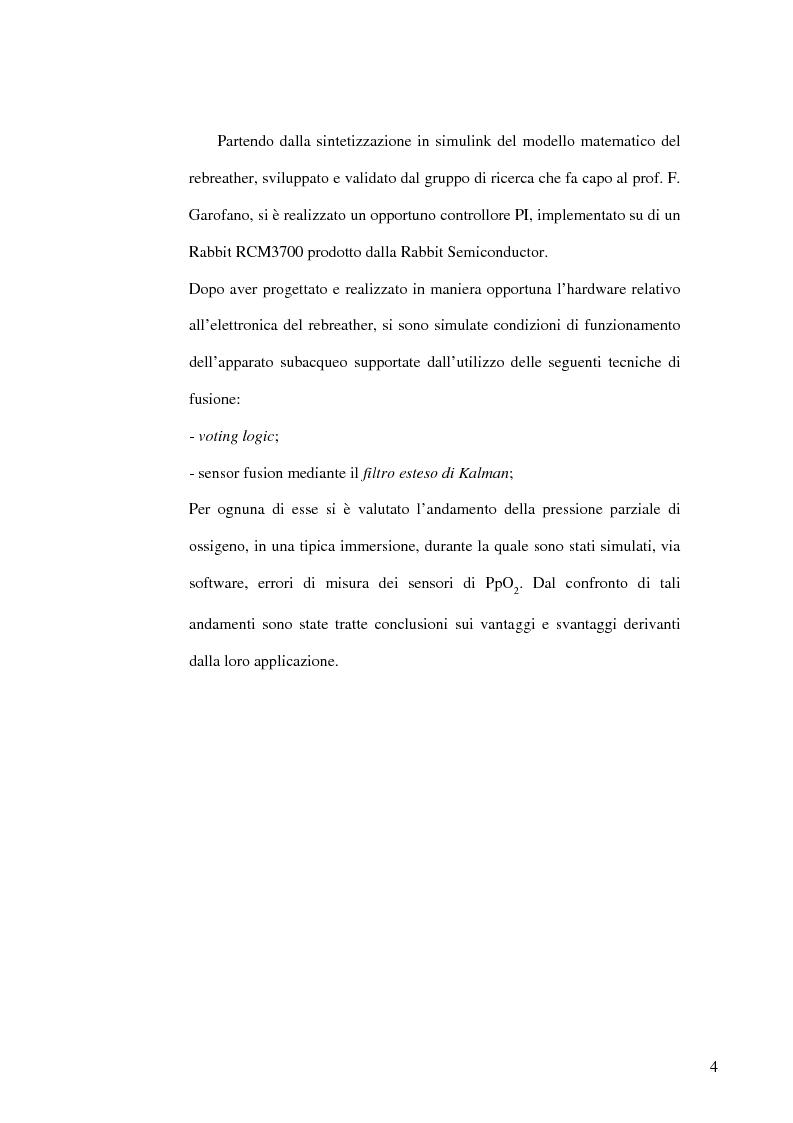 Anteprima della tesi: Progettazione di una centralina per la sintesi e la validazione di tecniche fault tolerant applicate a sistemi di respirazione subacquea, Pagina 2