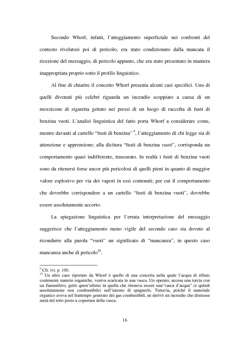 Anteprima della tesi: La relatività linguistica nella prospettiva di E. Sapir e B. l. Whorf, Pagina 11