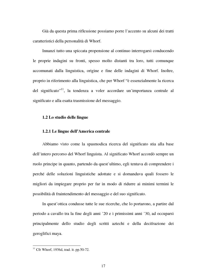 Anteprima della tesi: La relatività linguistica nella prospettiva di E. Sapir e B. l. Whorf, Pagina 12