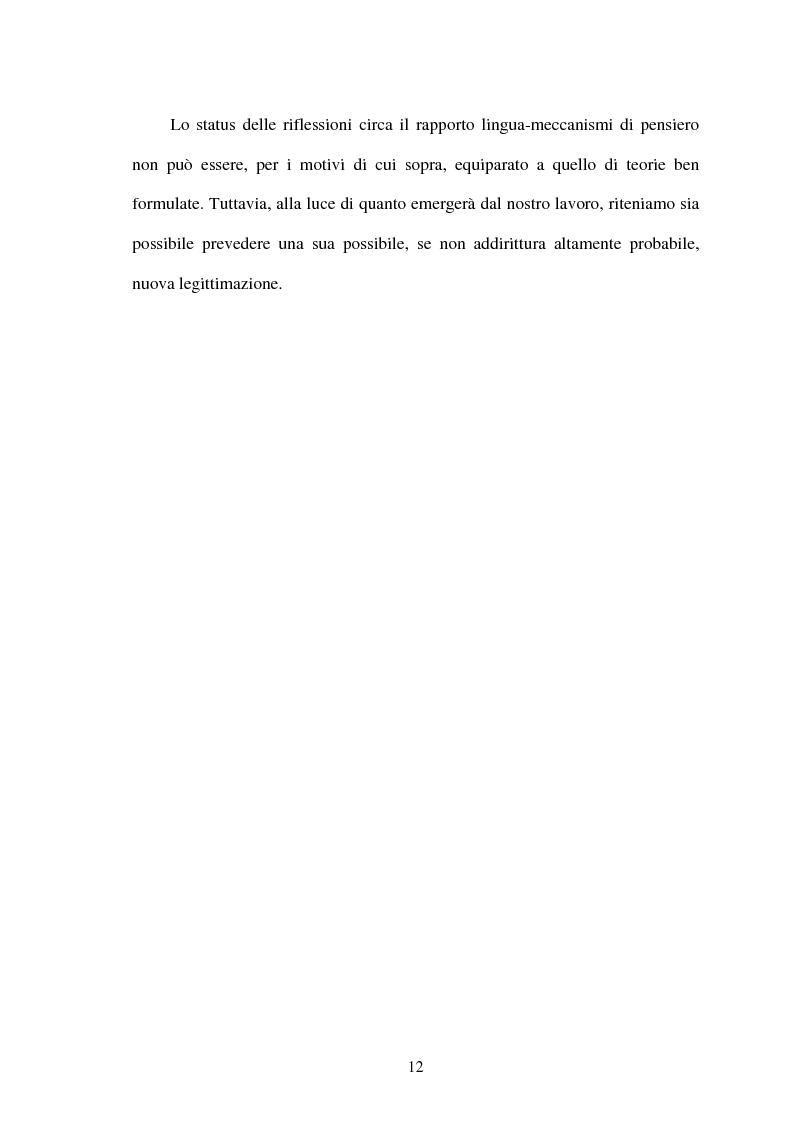 Anteprima della tesi: La relatività linguistica nella prospettiva di E. Sapir e B. l. Whorf, Pagina 7