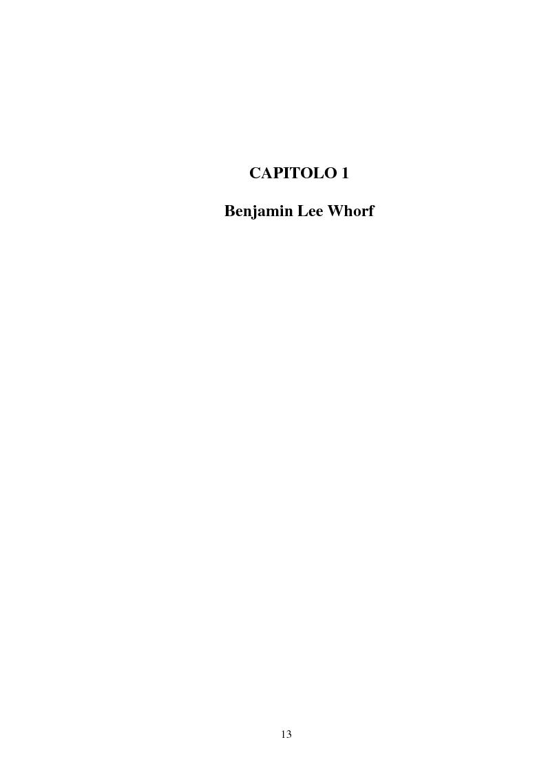 Anteprima della tesi: La relatività linguistica nella prospettiva di E. Sapir e B. l. Whorf, Pagina 8