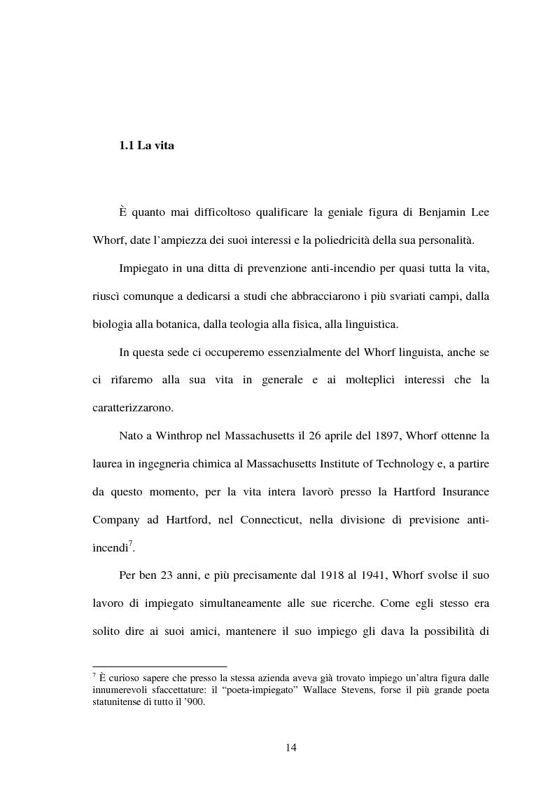 Anteprima della tesi: La relatività linguistica nella prospettiva di E. Sapir e B. l. Whorf, Pagina 9