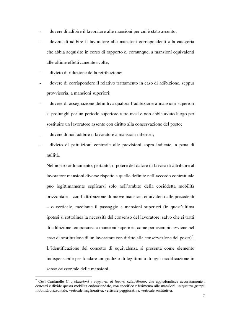 Anteprima della tesi: La tutela della professionalità del lavoratore, Pagina 3