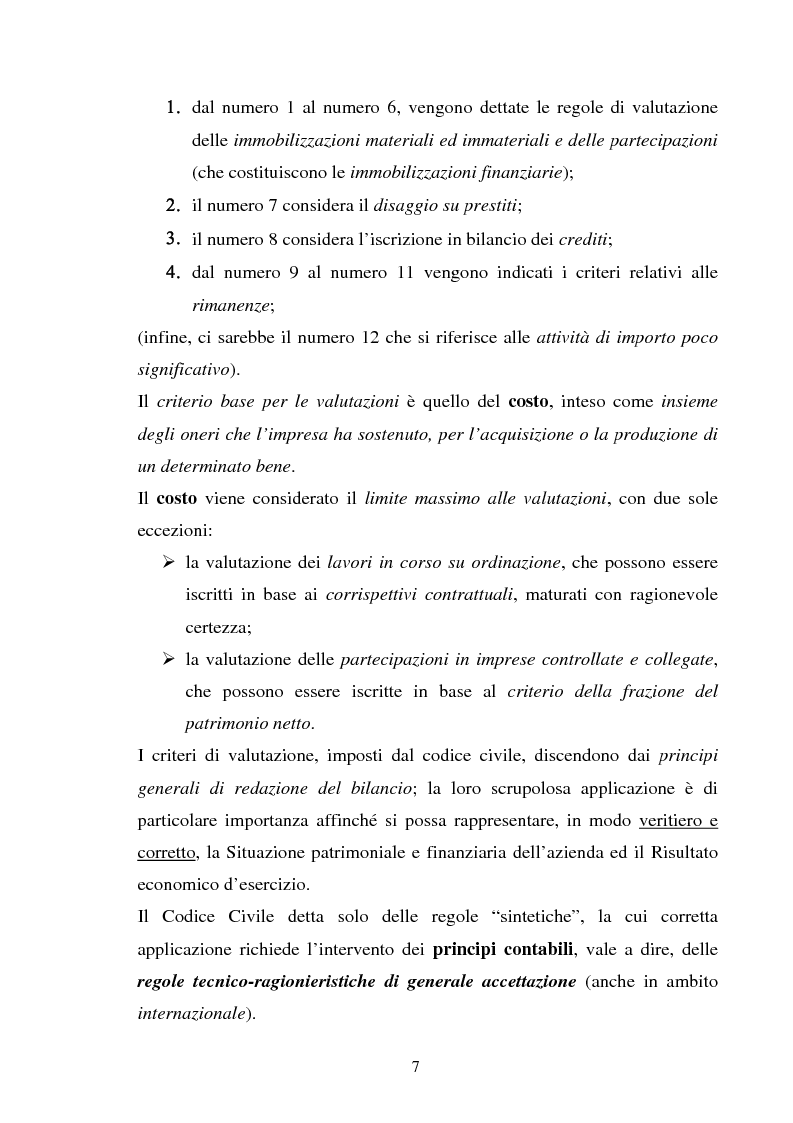 Anteprima della tesi: L'applicazione degli IAS alle aziende alberghiere, Pagina 7