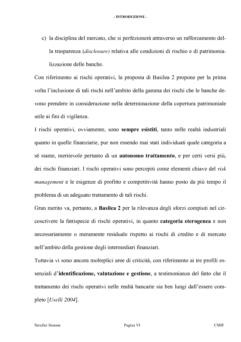 Anteprima della tesi: I rischi operativi, Pagina 3