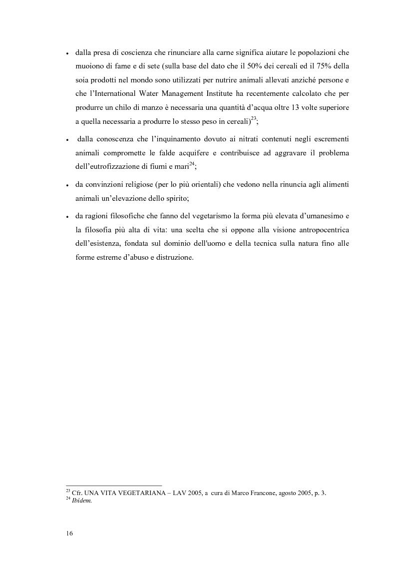 Anteprima della tesi: La scelta vegana e la nuova idea di rispetto della biosfera, Pagina 12