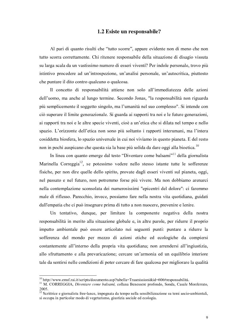 Anteprima della tesi: La scelta vegana e la nuova idea di rispetto della biosfera, Pagina 5